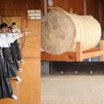 愛知県幸田町の幸田高校へ、弓道の写真撮影に行ってきました。